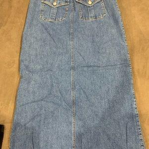 Floor length jean skirt - Size 1 - Old Navy